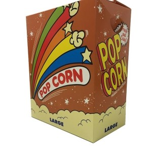 popcorn box large fold down