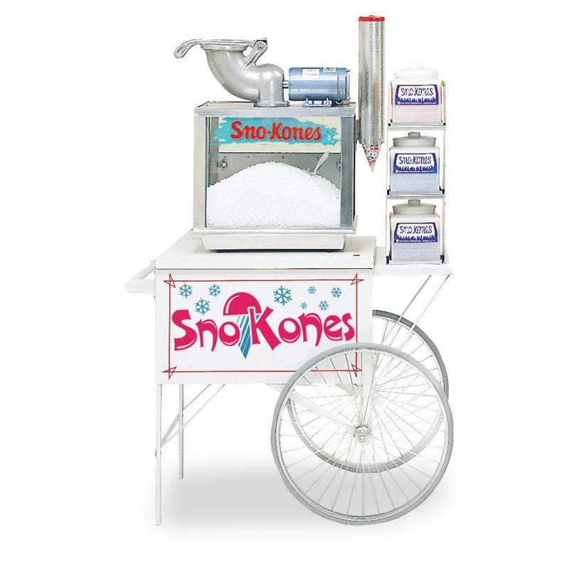 snow cone machine cart